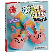 KLUTZ Sew Your Own UNICORN BUNNY SLIPPERS S
