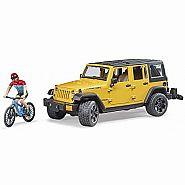 BRUDER Jeep Rubicon with Mountain Bike