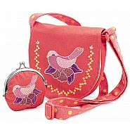 DJECO EMBROIDERED BIRD BAG AND