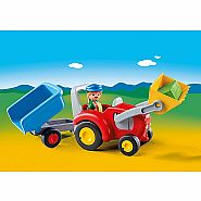 Playmobil 123 Tractor with Trailer