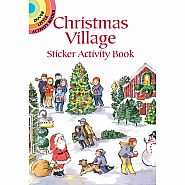 Dover Books Christmas Village Sticker Activity Book