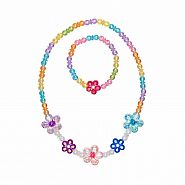 Blooming Beads Necklace and Bracelet Set