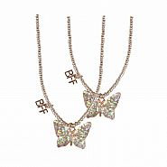 BFF BUTTERFLY SHARE & TEAR NECKLACE 2 PCS