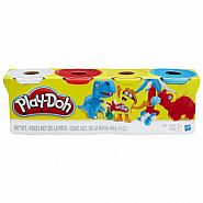PLAY-DOH 4 PACK CLASSIC/DINOS