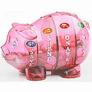 $$ SAVVY PIGGY BANK PINK