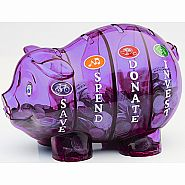 $$ SAVVY PIGGY BANK PURPLE